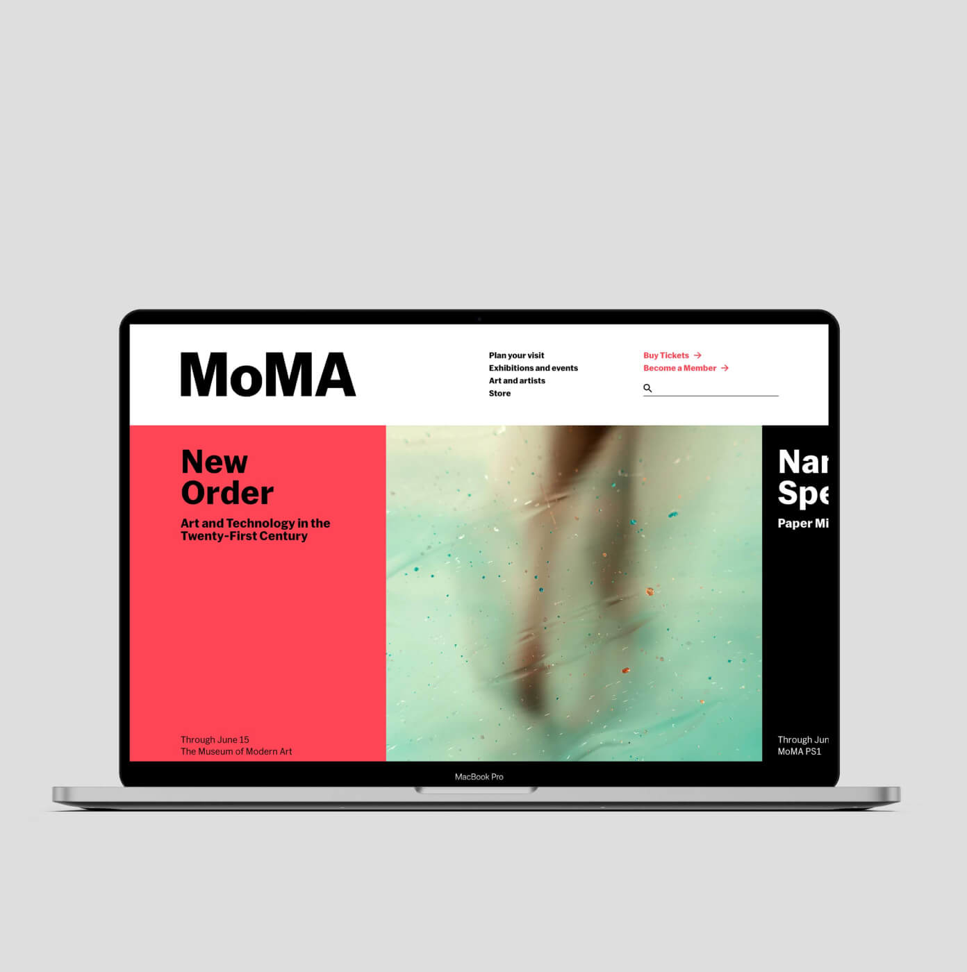 MoMA  —  New web for a new brand